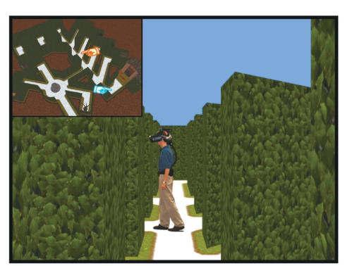 Virtual navigation in VR